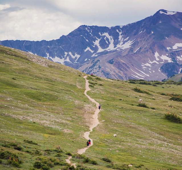 Hiking Trail in Rocky Mountaion National Park