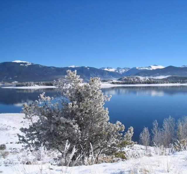 Lake Granby in winter