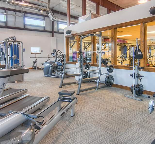 Interior of gym Mountain Life Fitness