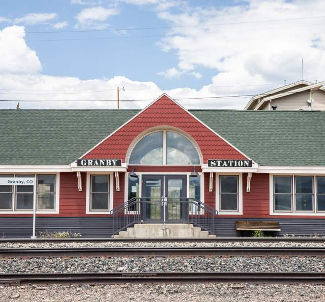 Exterior of Granby train station