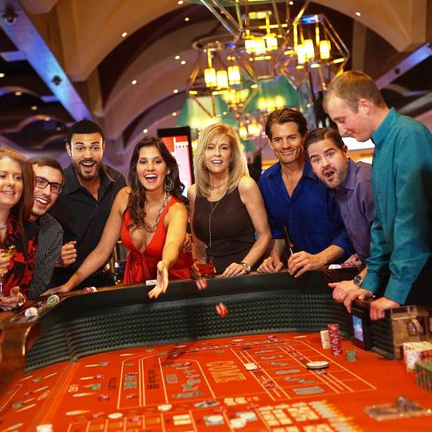 People playing Craps at del Lago