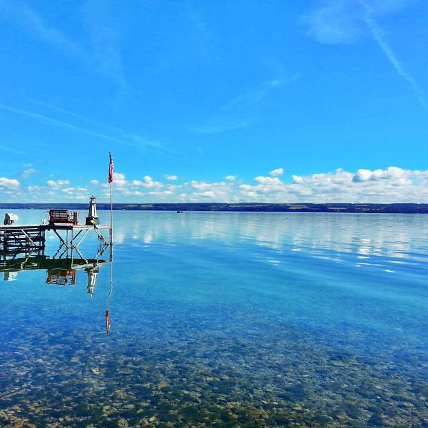 Dock on Cayuga Lake