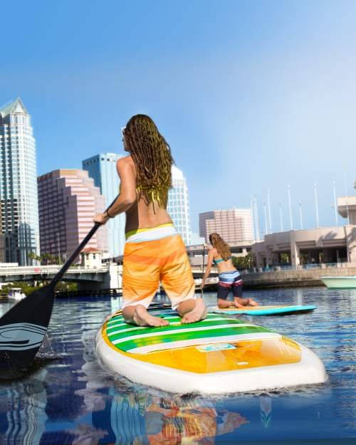 Downtown Tampa Paddleboarding