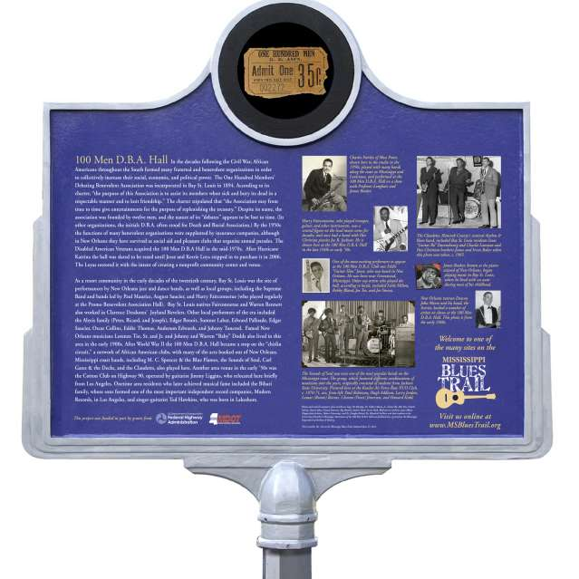 Blue Trail Marker 100 Men Hall DBA