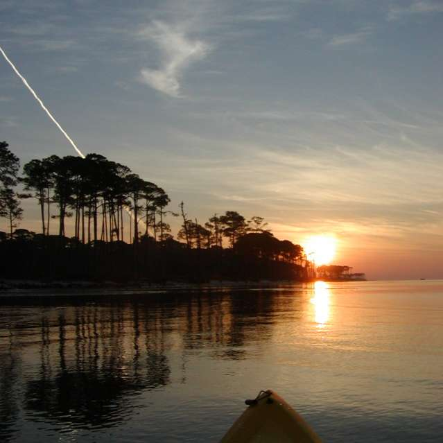 Sunrise over the Mississippi Sound by Kayak