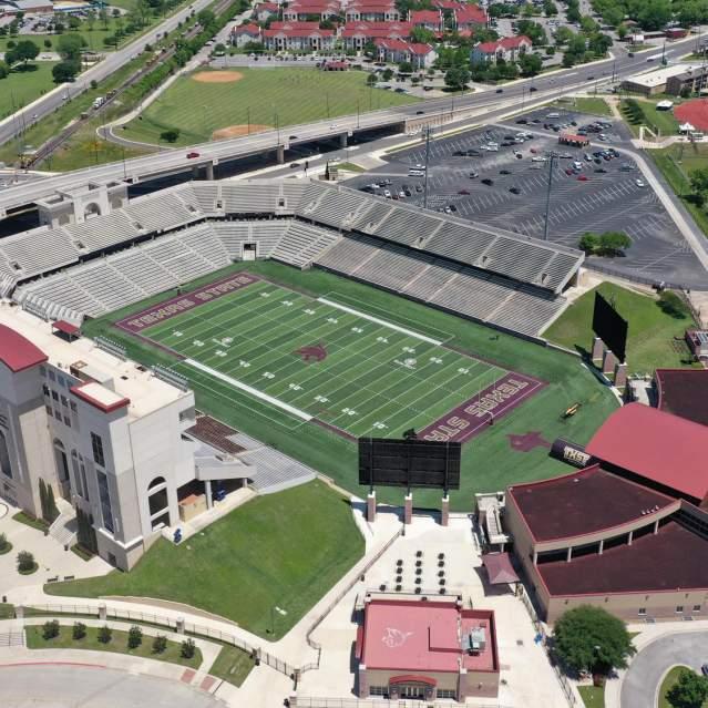 Aerial view of Bobcat Stadium