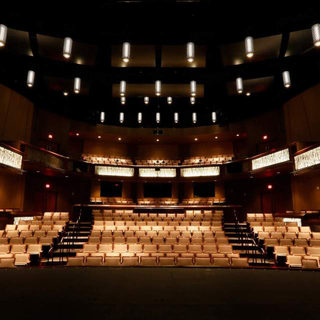 Interior seating of Texas State University Performing Arts Center