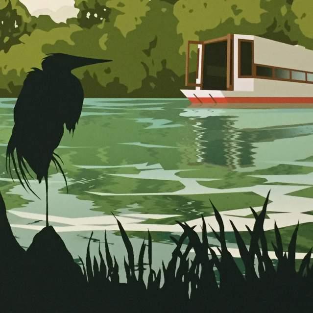 Graphic image of Aquarena Springs