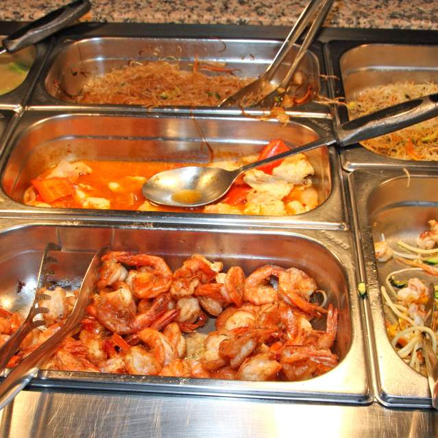 Buffet with assorted dishes