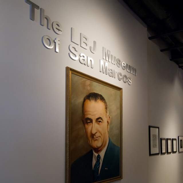 Entry to LBJ Museum of San Marcos