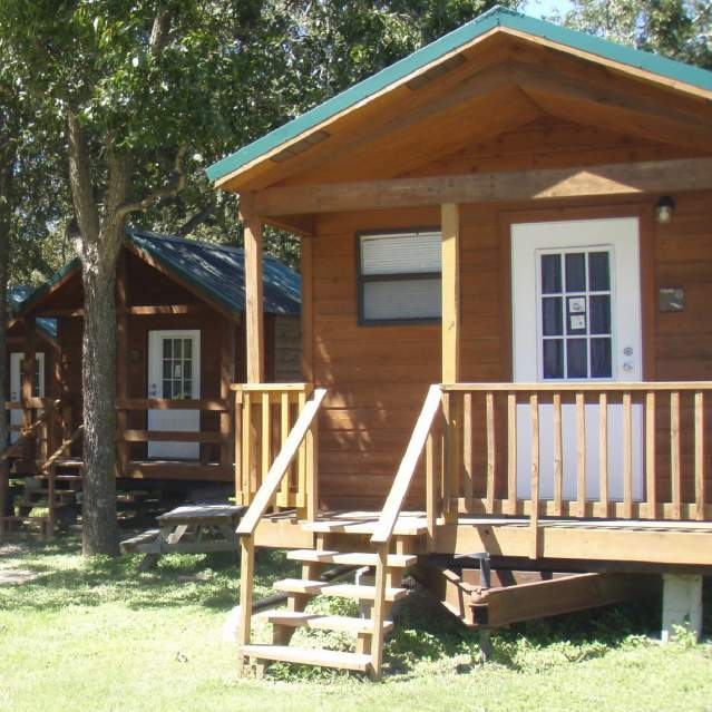 Cabins at camp ground