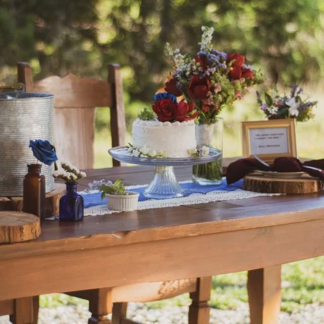 Table at wedding