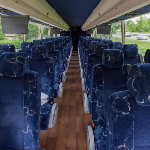 Seats inside motorcoach