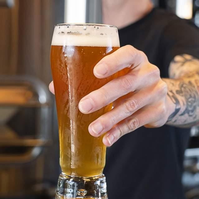 Serving a craft beer