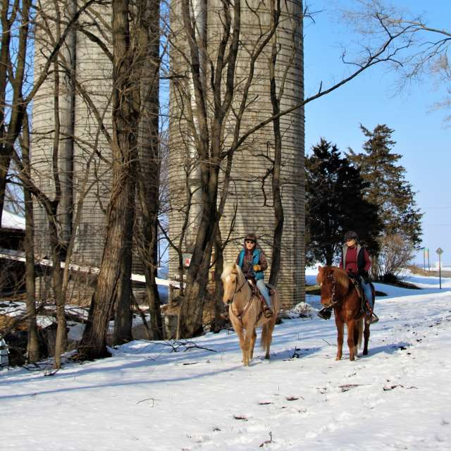 Winter Horseback Riding on Cumberland Valley Rail Trail