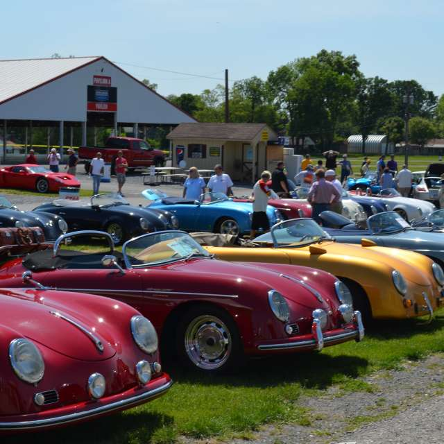 Speedster cars lined up at the Carlisle Import & Performance Event