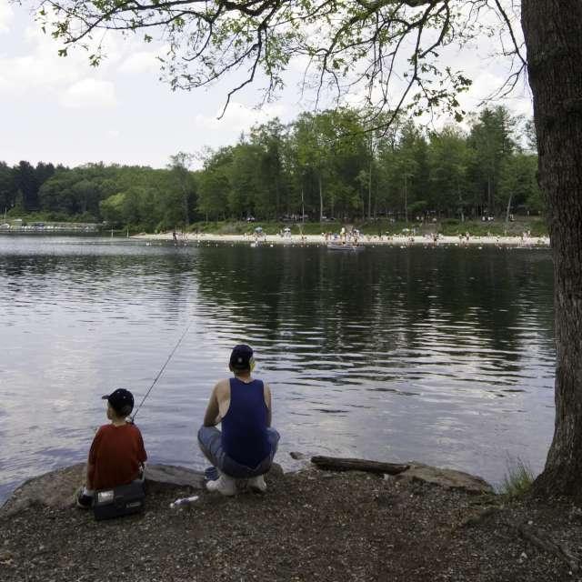 Fishing at Laurel Lake