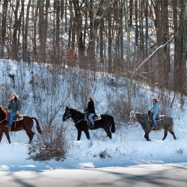 Winter Trail Ride at Fernwood Winter Fun Center