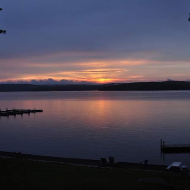 Enjoy at Sunset at Lake Wallenpaupack in the Pocono Mountains