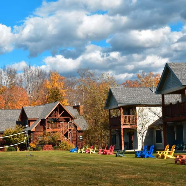 Autumn camping in the Poconos