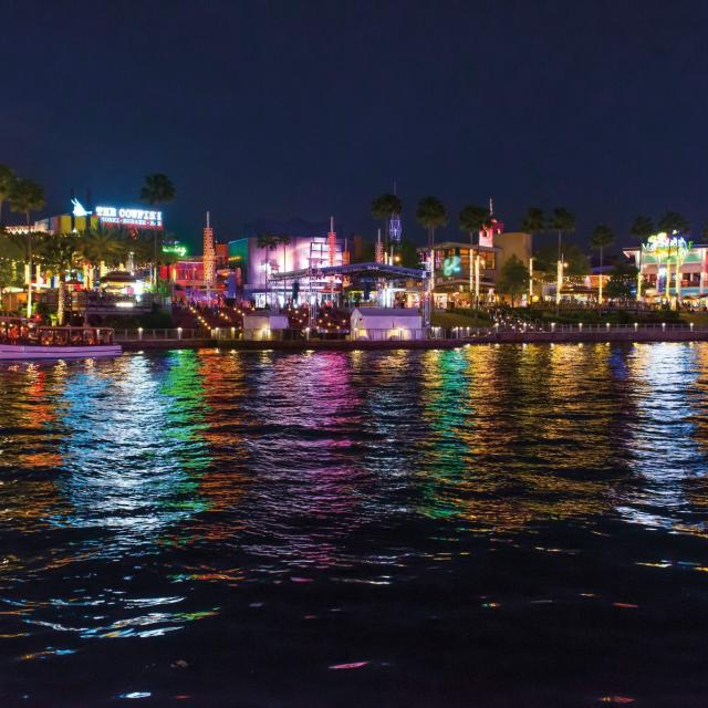 View of Universal CityWalk at night