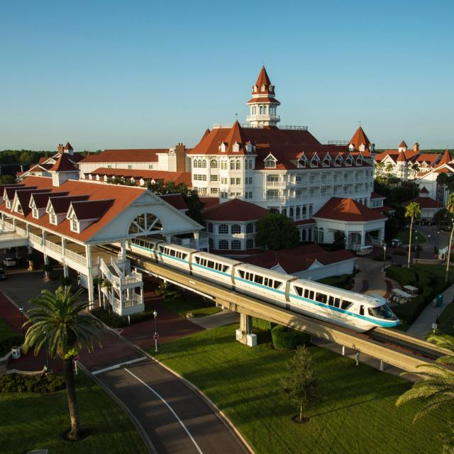 Disney's Grand Floridian Resort & Spa exterior and monorail