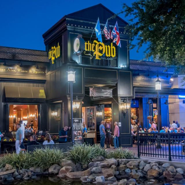 The Pub Orlando exterior front at night