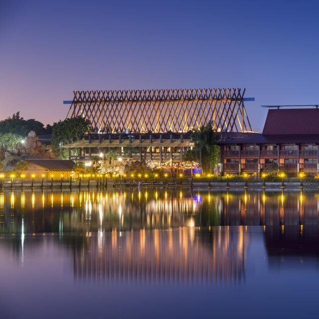 Disney's Polynesian Resort exterior evening