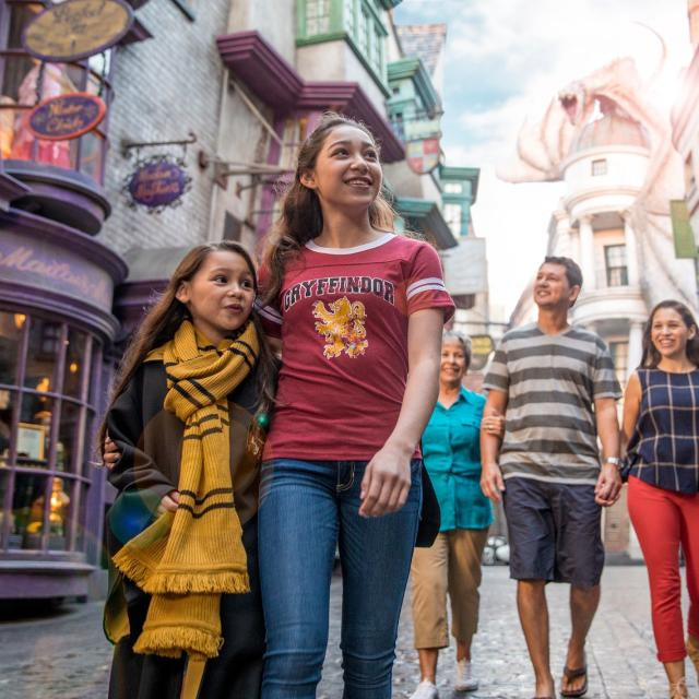 Family at The Wizarding World of Harry Potter - Diagon Alley at Universal Studios Florida