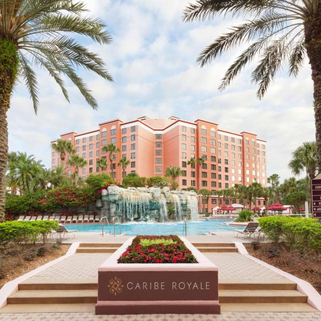 Caribe Royale All-Suite Hotel & Convention Center exterior pool waterfall