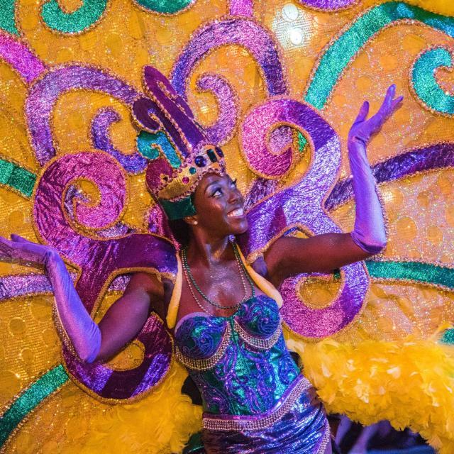 Performer at the Universal Studios Florida Mardi Gras parade