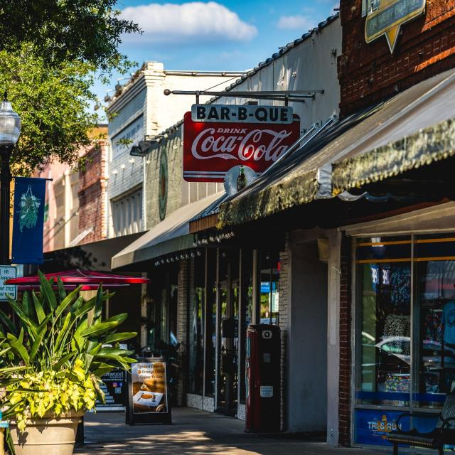 A row of shops in downtown Winter Garden