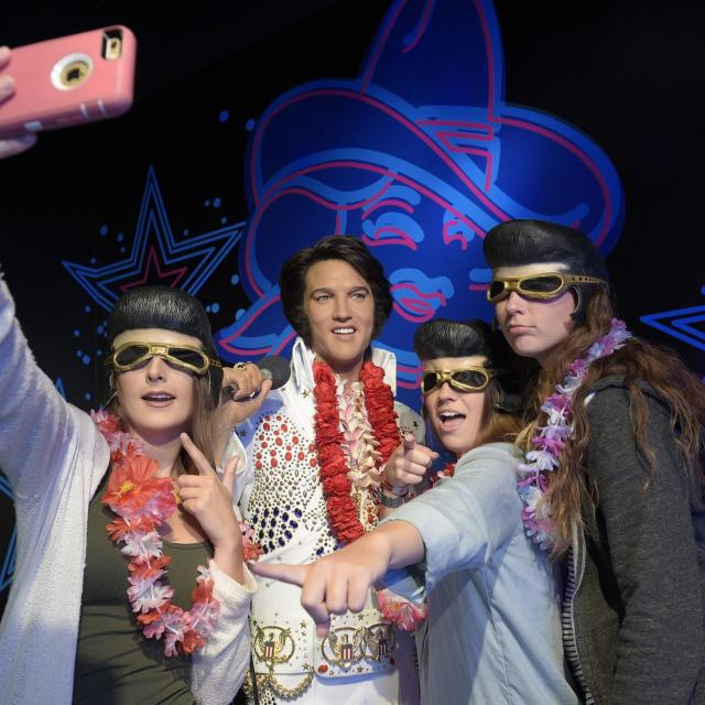 Madame Tussauds OrlandoGroup with Elvis