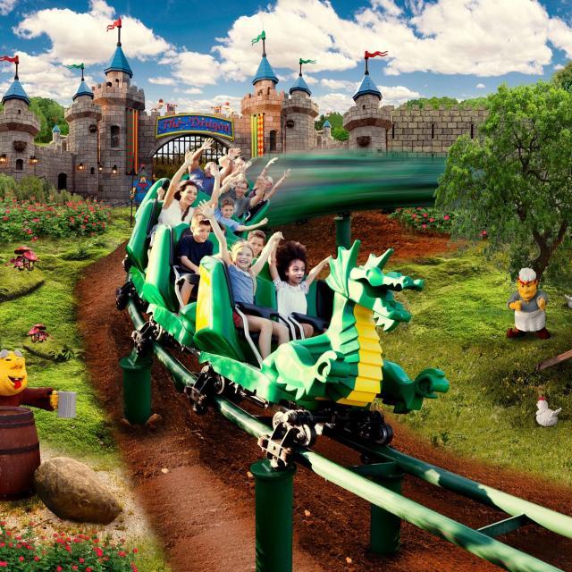 Dragon coaster at Legoland Florida Resort