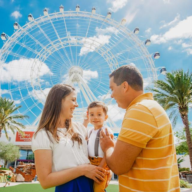 ICON Orlando™ family in front of wheel