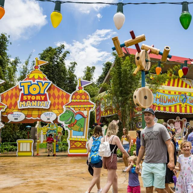 Toy Story Mania! located in Toy Story Land at Disney's Hollywood Studios.