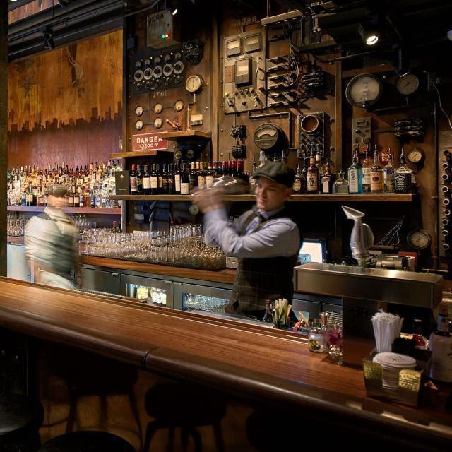 The Edison at Disney Springs interior bar bartender