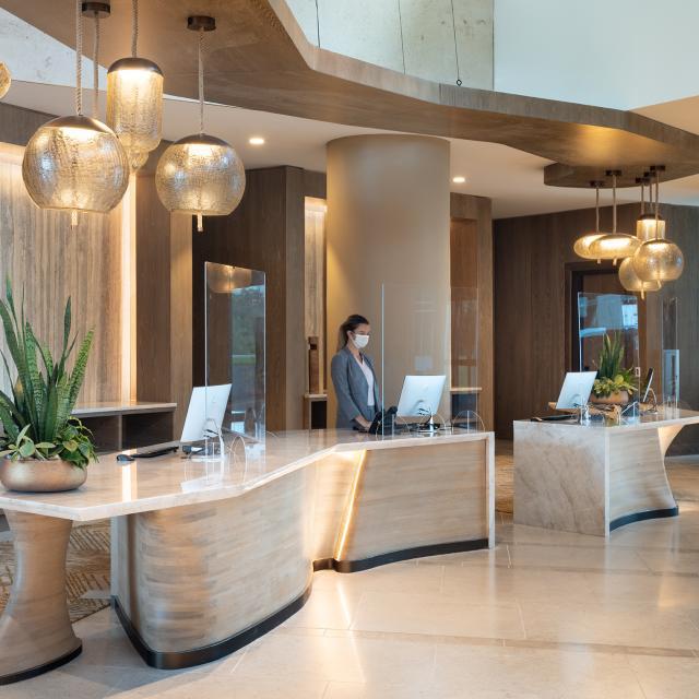 Reception desk at JW Marriott Orlando Bonnet Creek