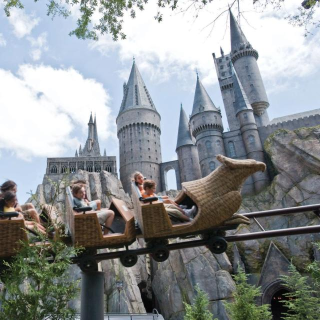 Flight of the Hippogriff attraction at Universal's Islands of Adventure for use on the Family-Friendly Coasters blog on VisitOrlando.com only.