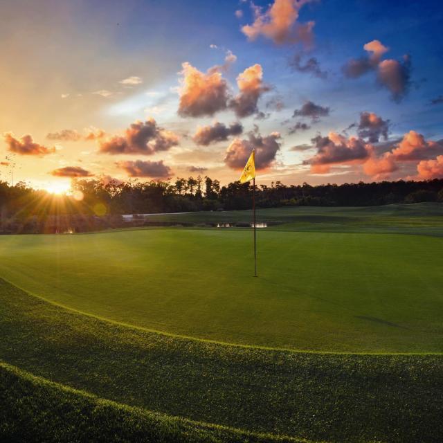 Orange Lake Resort golf course at Sunset.