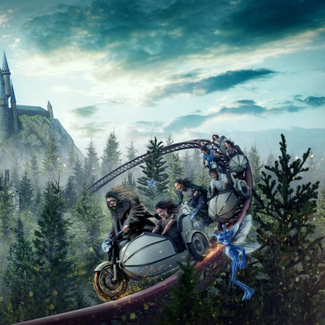 Hagrid's Magical Motorbike Adventure ride at Universal's Islands of Adventure.