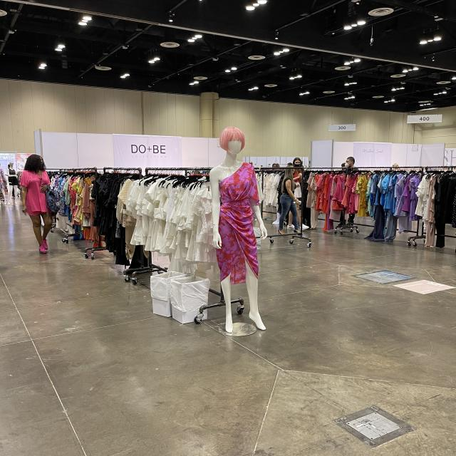 Vendor displays at the 2021 WWIN Womenswear Orlando at the Orange County Convention Center, February 9-11
