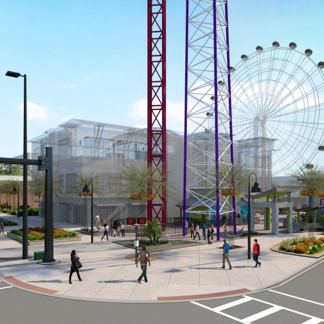ICON Park Slingshot and Drop Tower renderings