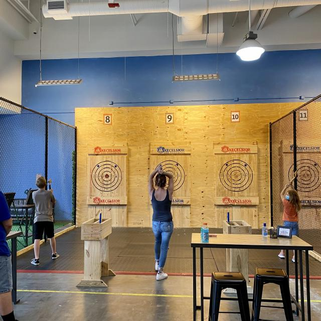 Axecelsior Axe Throwing traditional targets