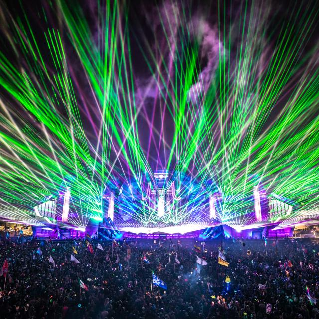 Electric Daisy Carnival 2019 green lasers
