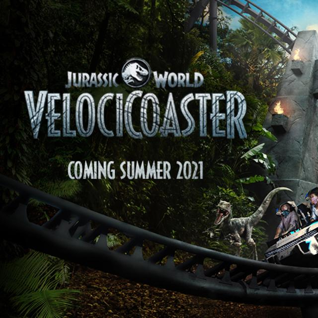 Jurassic World Velocicoaster Coming Summer 2021 at Universal's Islands of Adventure at Universal Orlando Resort