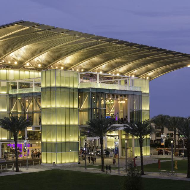 Dr. Phillips Center for the Performing Arts exterior and plaza