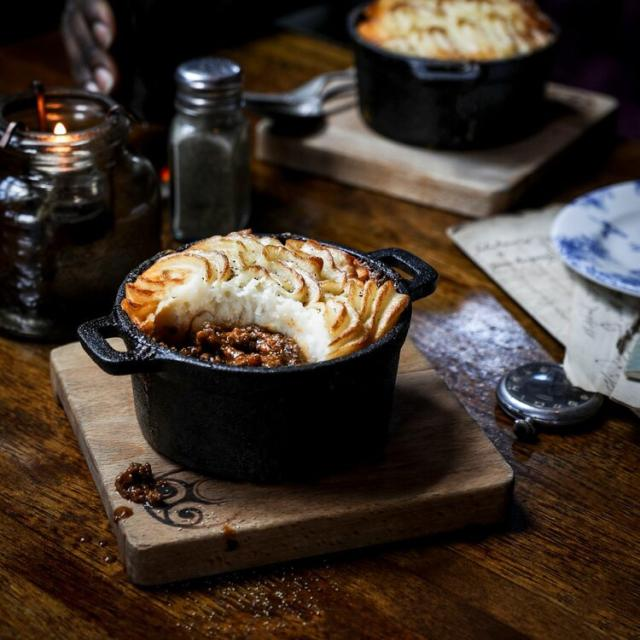 a serving of Shepherds Pie at Raglan Road Irish Pub & Restaurant