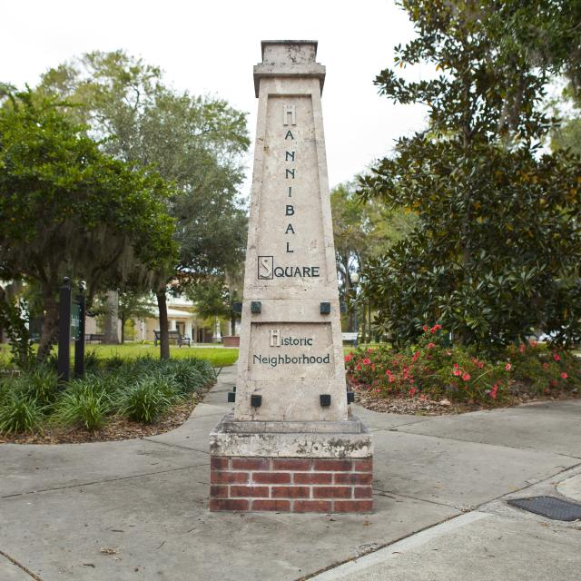 monument in the Hannibal Square district of Orlando, Florida