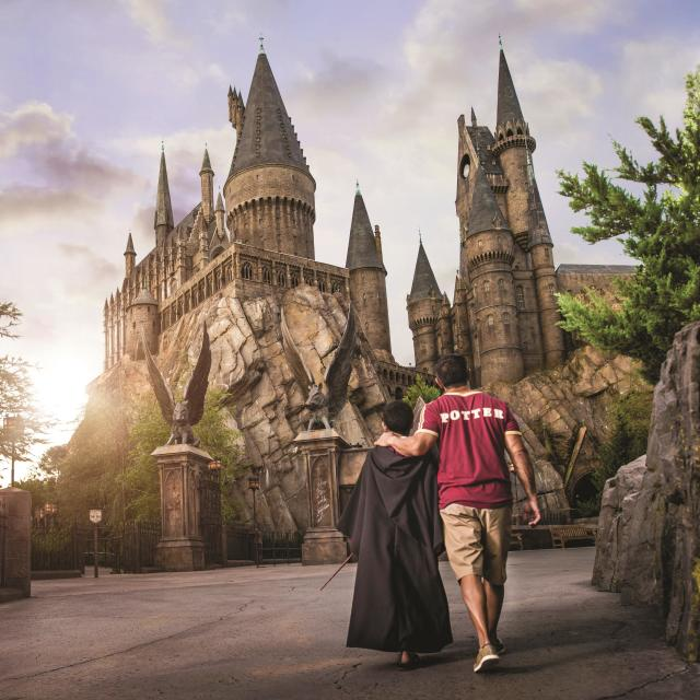 Universal's Islands of Adventure father and son Hogwarts Castle